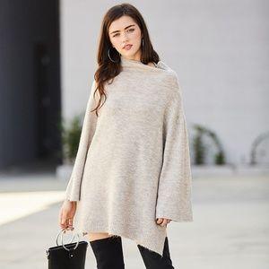 Last 2 ‼️Flare Arm Funnel Neck Sweater